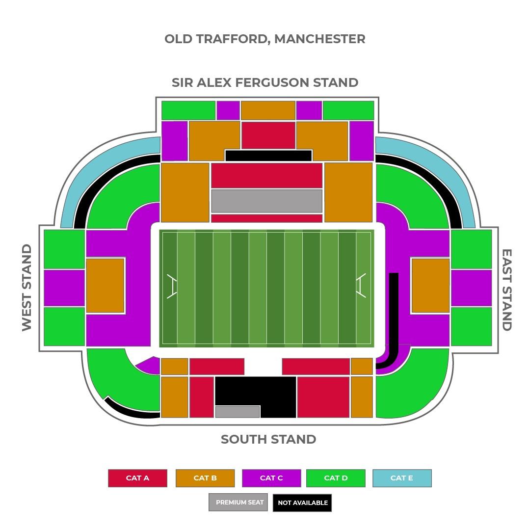 Old Trafford seating plan