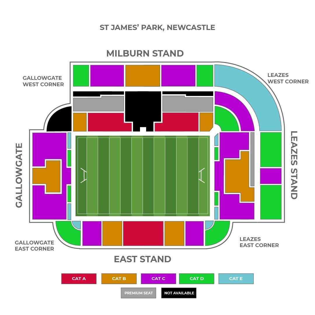 St James Park seating plan