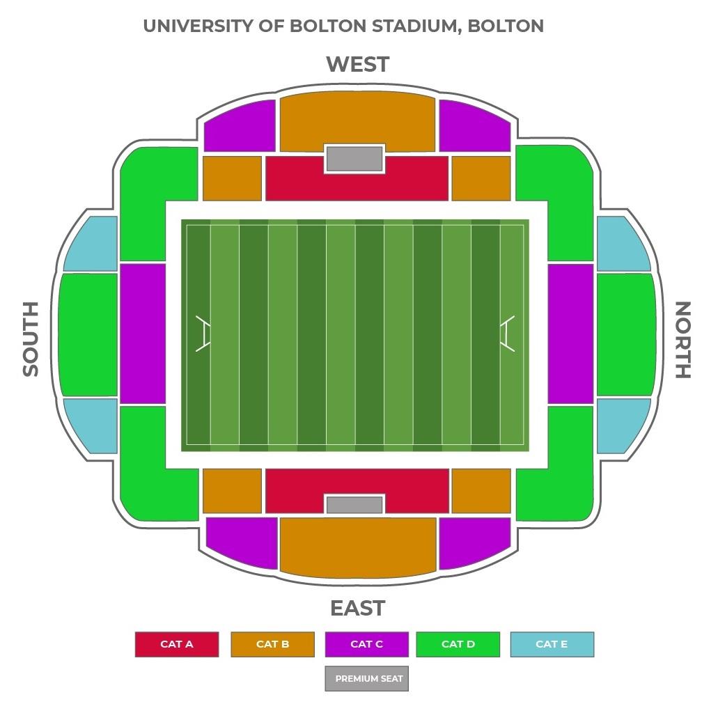 University of Bolton Stadium seating plan