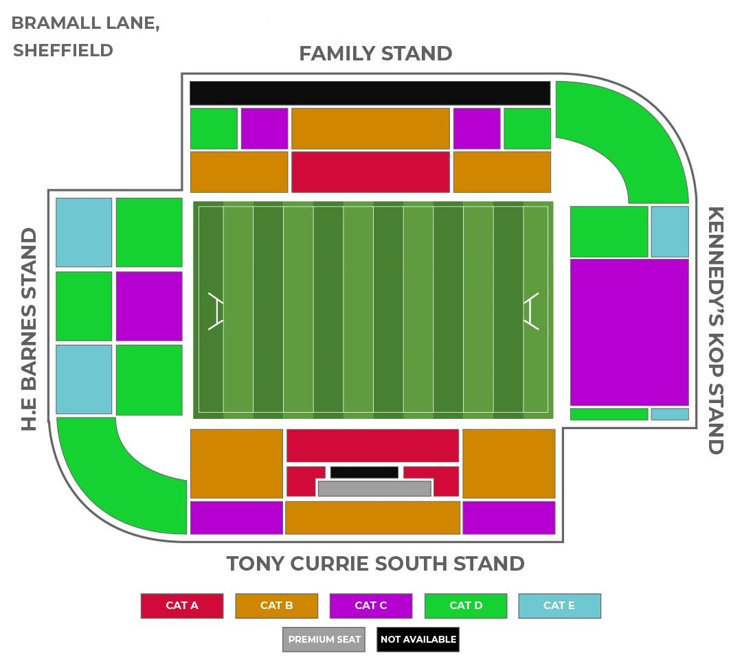 Bramall Lane seating plan