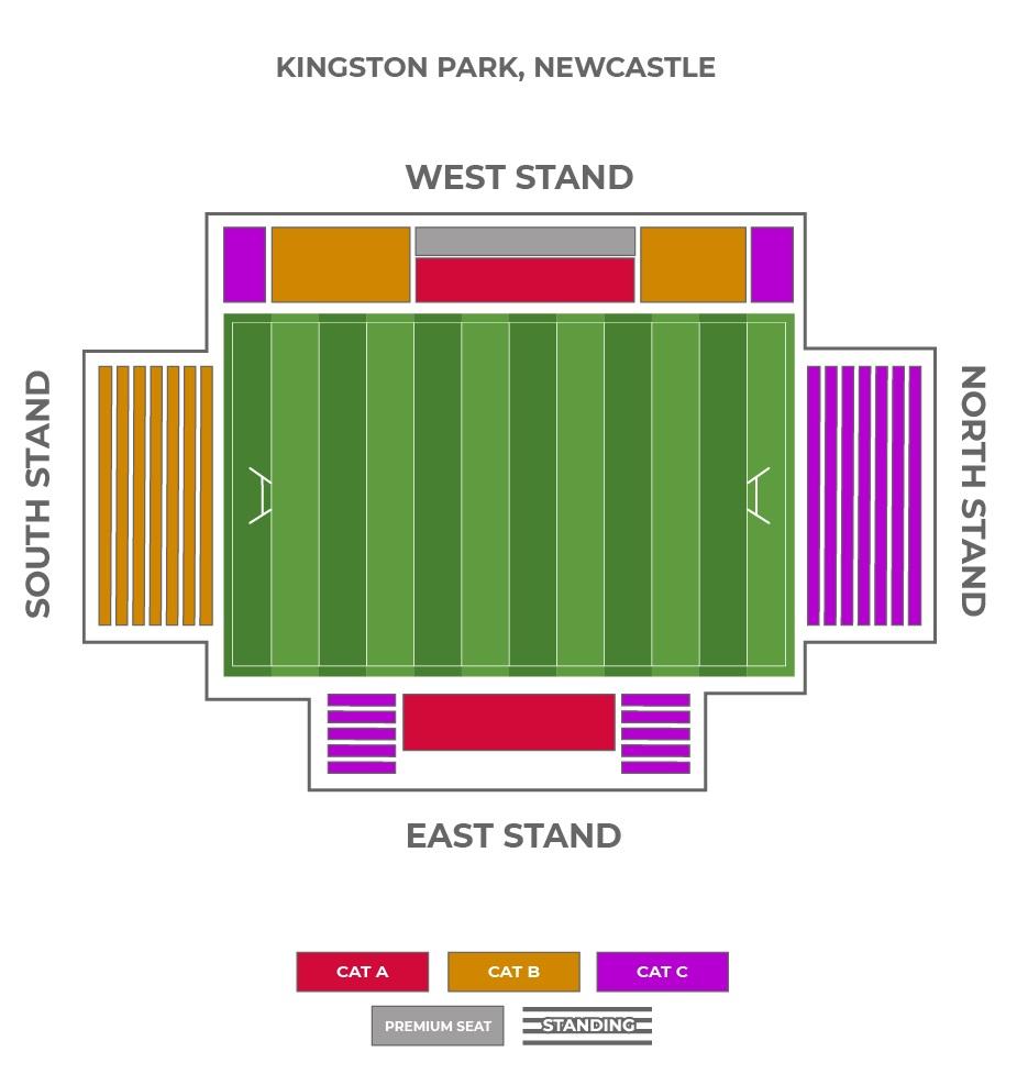 Kingston Park Stadium seating plan