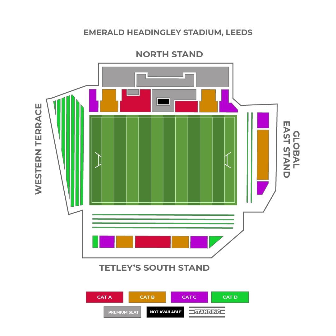 Emerald Headingley seating plan