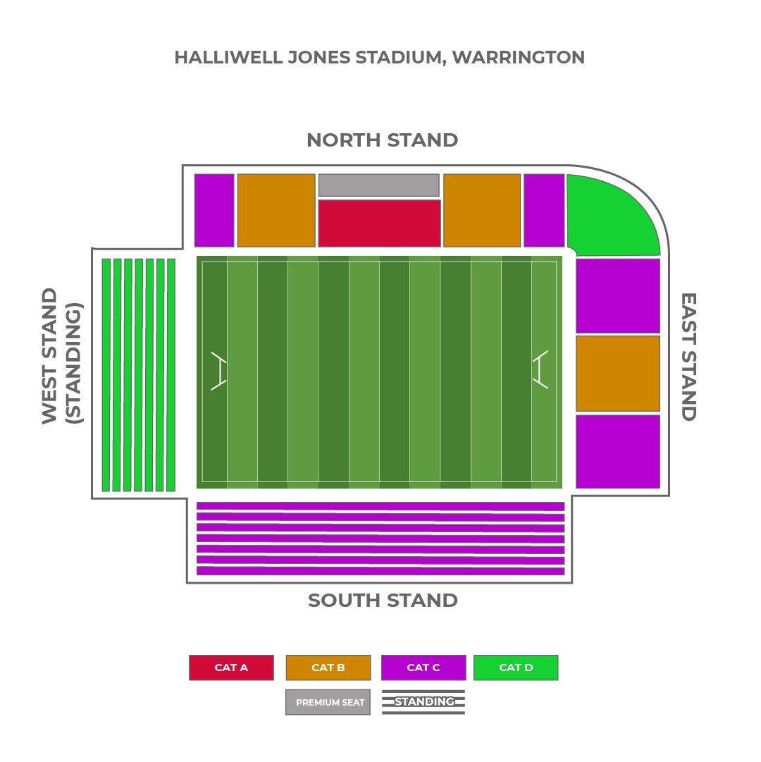 Halliwell Jones Stadium seating plan