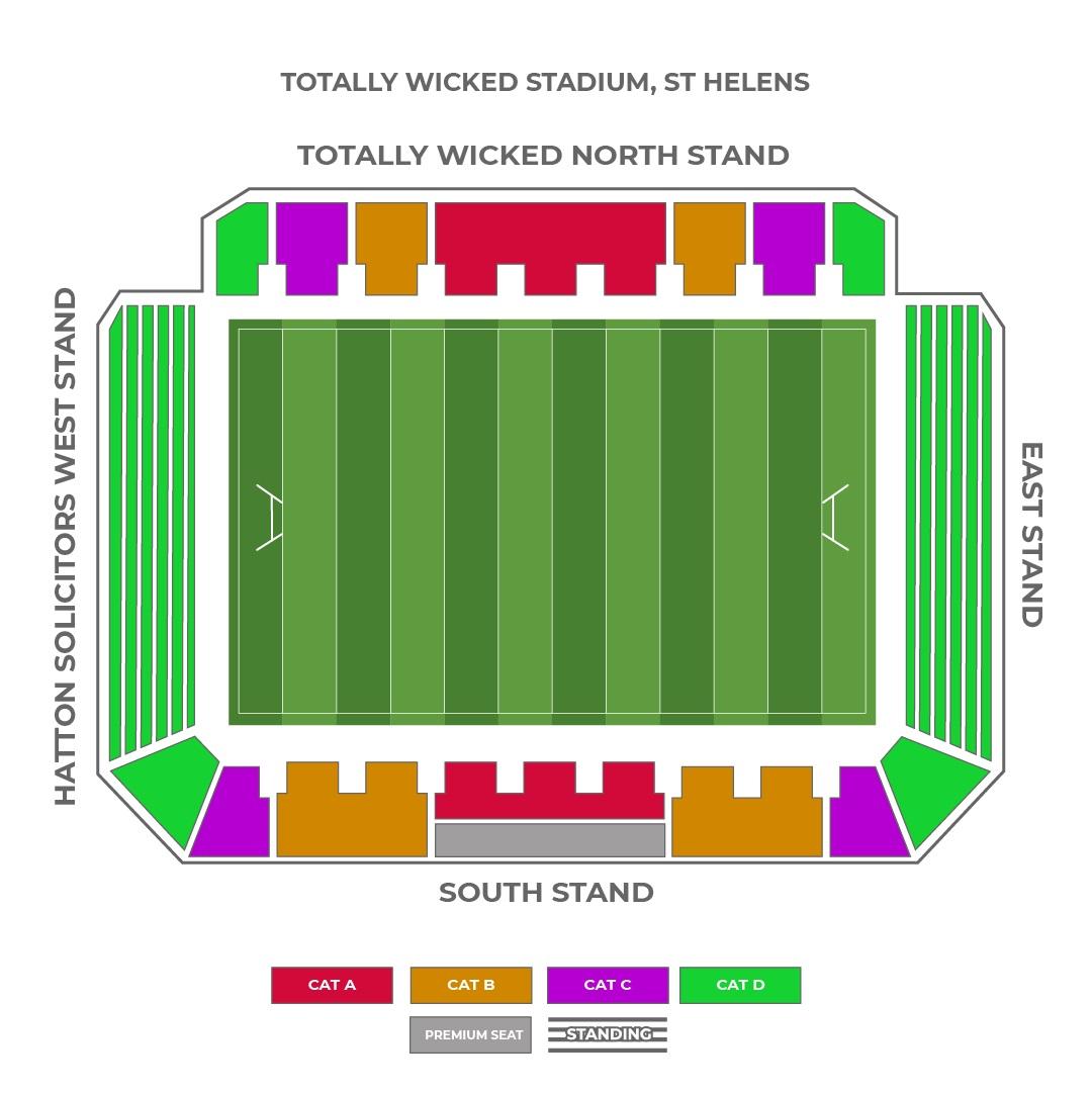 Totally Wicked Stadium seating plan