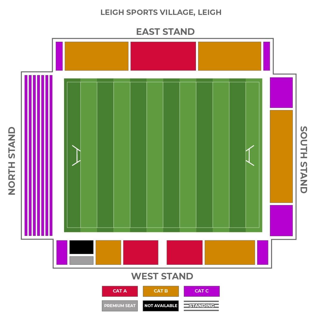 Leigh Sports Village seating plan