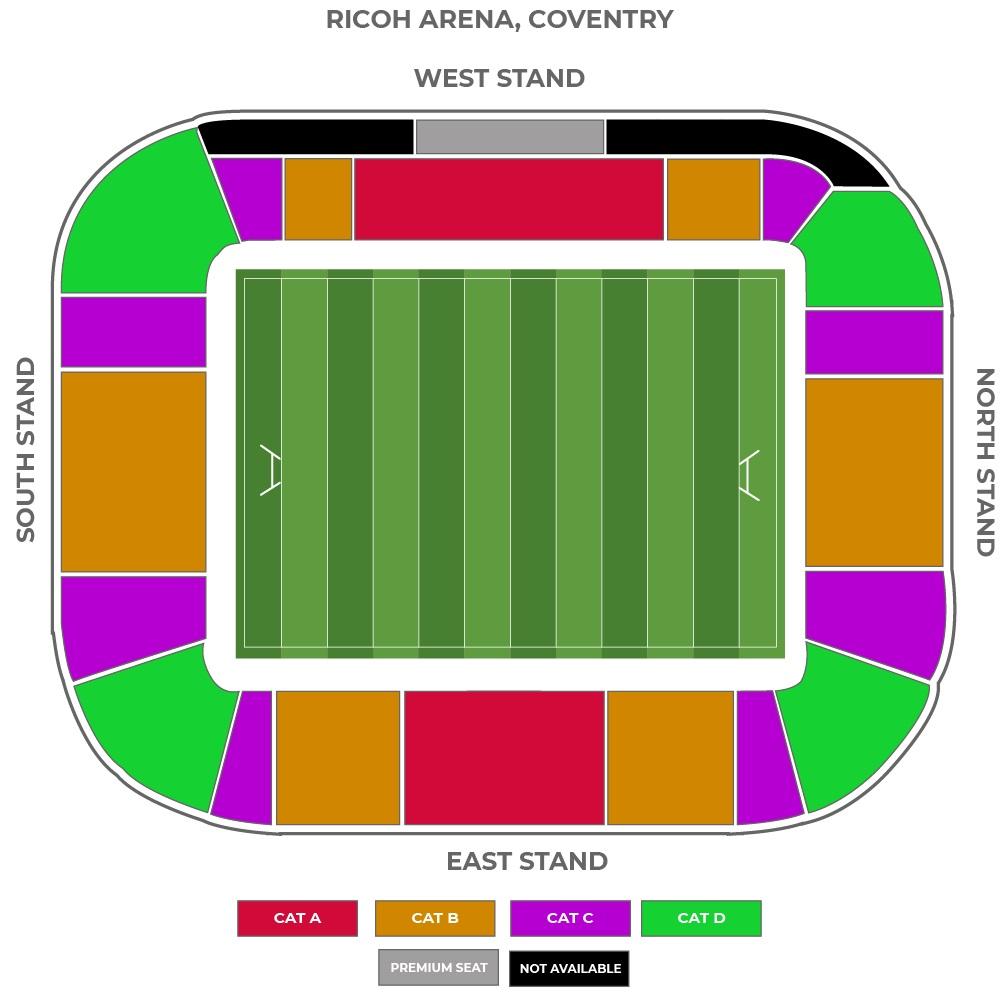 Ricoh Arena seating plan