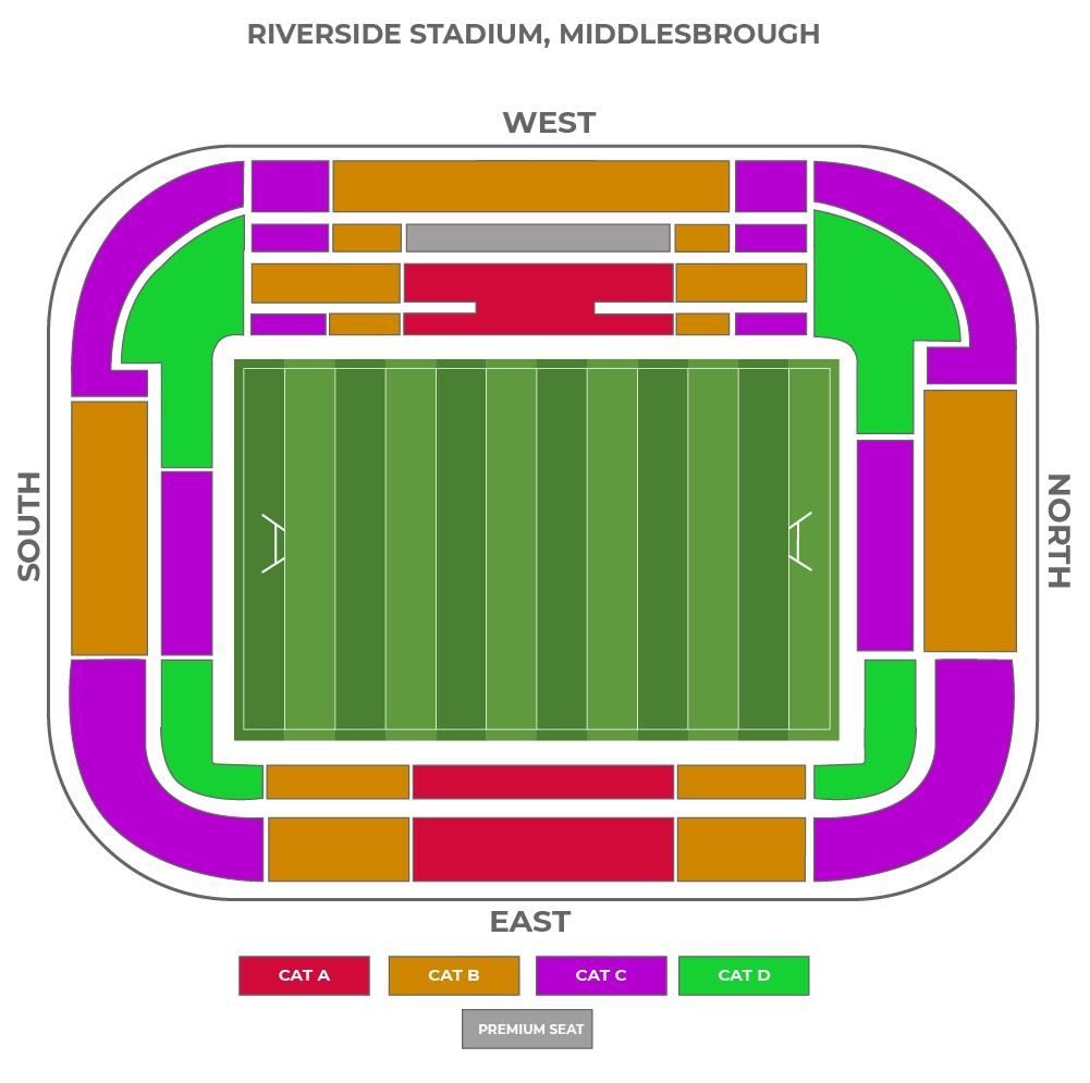 Riverside Stadium seating plan