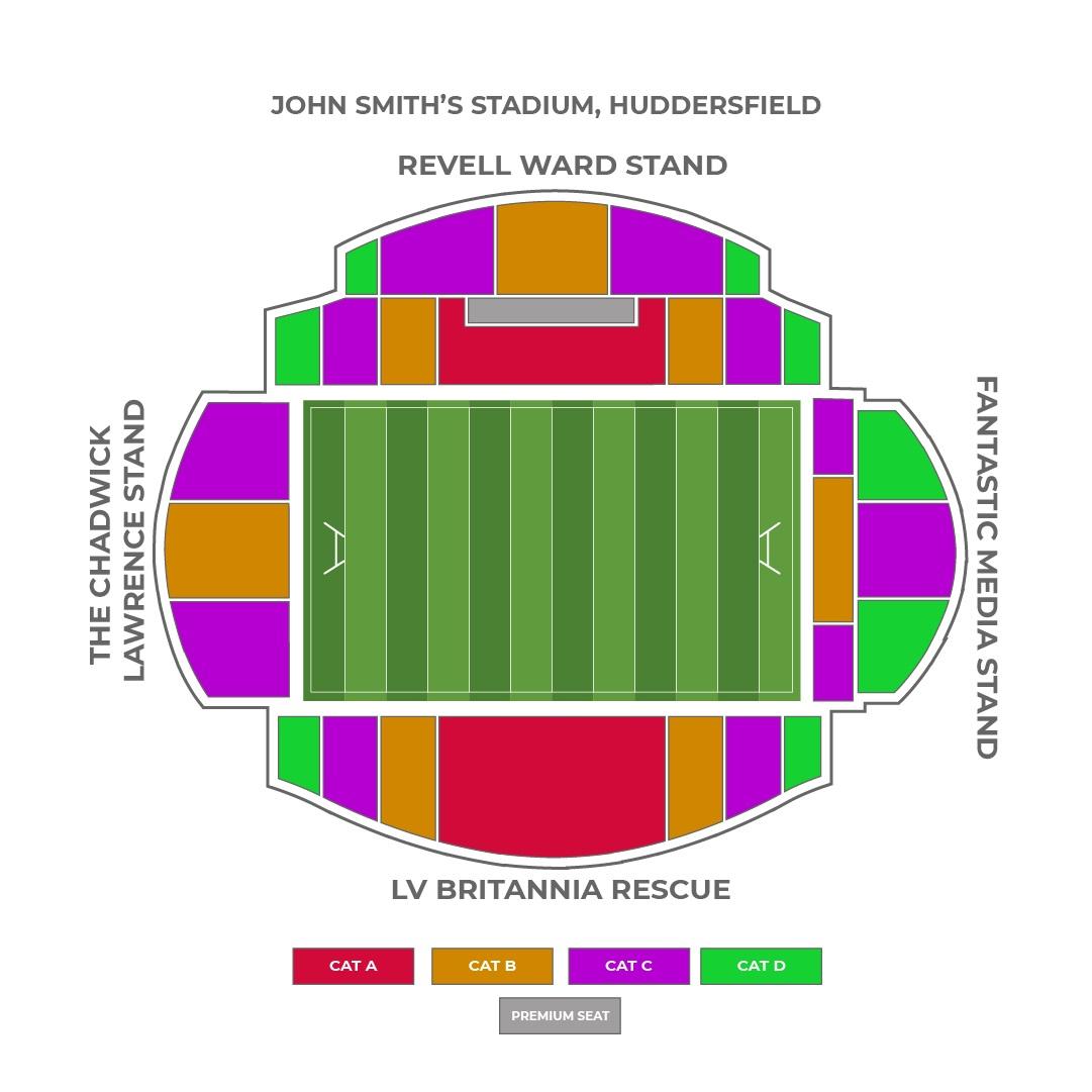 John Smith Stadium seating plan