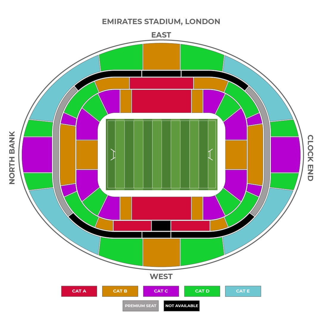Emirates Stadium seating plan