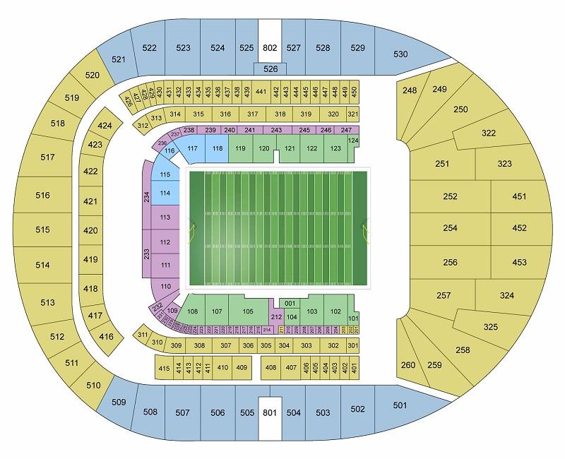 Tottenham Hotspur Stadium seating plan
