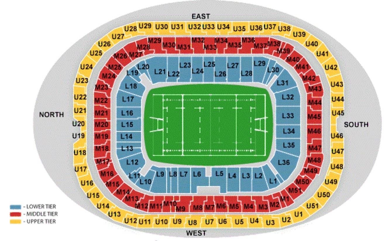 Twickenham Stadium seating plan
