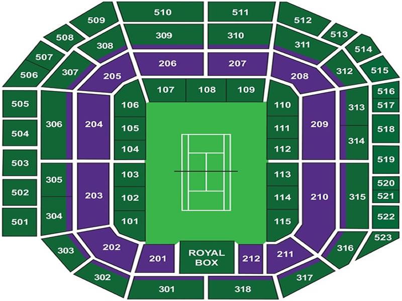 Wimbledon Centre Court seating plan